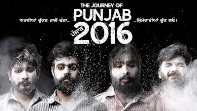 Poster Of Pollywood Movie The Journey of Punjab 2016 300MB HDRip 480P Full Punjabi Movie