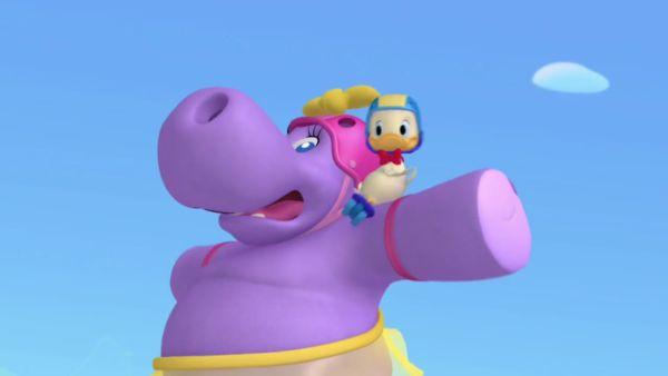 MICKEY MOUSE: Yikes! Runaway hippo!