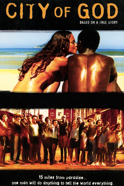 City of God (2002) Brazilian Film Poster      City of God (Cidade de Deus) is a 2002 Brazilian crime film directed by Fernando Meirelles and co-directed by Katia Lund. It was released in Brazil in 2002 and worldwide in 2003. The story of the film is taken from the 1997 novel of the same name written by Paulo Lins. Screenplay is written by Braulio Mantovani. The film is about an organized crime and war between the drug dealer Lil Ze and Knockout Ned during the end of the 1960s and the beginning of the 1980s.    Plot:  The film is started with a scene of chickens to be prepared for meal. A chicken escapes and a gang with arms chases after it. It stops between the gang and a young man named Rocket. A flashback traces Rocket at that time. During 1960s, his older brother Goose, Goose's friend Shaggy and Clipper and Lil Dice made a group of thieves. They stole properties, money from shops, motels. But they delivered something of the money to the local citizens. So, the citizens didn't tell about them to the police. Lil Dice was little than the three. But e had intelligence and he was an idea maker. But he always wanted to be the boss of the group. But other members didn't give any chance or attention to him. One day they tried to steal from a motel. The three men kept Lil Dice out of the motel so that he could warn them if police had come. But Lil Dice warned them that police had come. They flew away. But actually police had not come then. Lil Dice shot all the people with his pistol. Then he flew away. Next day police came and shot Shaggy. Lil Dice shot Goose for snatching his money that he stole from the motel that night. Clipper gave up the deeds and went to the church. Lil Dice became the boss of the gang named 'City of God'. His best friend Benny was little brother of Shaggy. During the 1980s, Lil Dice grew up to 18 years and changed his name from Lil Dice to Lil Ze. He became a drug dealer in Favelas village. The total empire is under him except Carrot's locality. Carrot operated his business separately. So, little war was very common to them. Benny loved Angelica. Thiago was Angelica's ex-boyfriend. Now he works with Lil Ze and is a drug addict. Rocket had interest on Angelica. But after Benny and Angelica's relationship is done, his interest had gone. He wanted to be a photographer. Benny offered him a camera to capture his and Angelica's picture. He captured many pictures of the gang's members. Blacky works with Carrot. In the Benny's farewell party, Blacky shot Benny instead of Lil Ze. Benny was a close friend of Carrot. Benny stopped many little wars between Lil Ze and Carrot. But after Benny's death, Lil Ze decides to kill carrot's members and all with his gang. But at the street, he meets a girl who dissatisfies him. So, he rapes the girl and beats her boy friend Knockout Ned with his gang. After that he wanted to kill Knockout. But Knockout's little brother tries to stab Ze. But all the members shot him broke his house also is died Knockout's uncle. After that, Knockout joined to Carrot's gang to revenge. A new war is started between Ze and Knockout. Many boys joined to both of the gang. In the war, Knockout is died, many boys from the both gang are died. Police catches Ze. But when the police get money from Ze, they release him. They catch Carrot also. But the new Runts of the gang kill Lil Ze. Rocket captured every moment of the war and gave the photos to the newspaper agency. He became famous. Again a new gang of runts is created.   A still from the film City of God (2002) Brazilian Film   Story:  The story of the film is taken from the 1997 novel of the same name written by Paulo Lins. The story is adapted by Braulia Mantovani. The story of the film is about crime drug dealing, poverty, war between Lil Ze and Knockout Ned during the 1969s and the beginning of the 1980s.    Cinematography:  Cesar Charlone is the cinematographer of the film. It received worldwide critical acclaim and was nominated for four Academy Awards in 2004: Best cinematography, best Direction, Best Editing and Best Screenplay writing. To know about its cinematography we have to know the main characteristics of cinematography of the film.    Shot:  Almost all the scenes of the film are captured by handheld camera. Camera movement is one of the main characteristics of cinematography of the film. Besides, there are variations of the shot divisions. For example, close up shot, mid shot, wide shot, long shot etc. We also notice camera tilt up, tilt down, panning.    Mise-en-scene:  It is a crime film. So, the arrangement of the props is set carefully. Weapons, set design, makeup of the characters and all other props are set up carefully. It seems it is an organized crime film. But it is very natural, actually.   Seu Jorge in City of God (2002) Brazilian Film    Lighting:  There is the use of artificial light in this film. But day light or natural light has been also used. The natural and artificial light have created shape of the objects and characters and made it more meaningful.    Acting:  It is a crime film. A little war is happened between two drug dealers. The use of weapon has become the most important in the film. So, acting mostly lies in weapon operation in this film. Director Fernando did not take the casts from middle or rich class because they didn't face with the situation of poverty. So, he selected the cats from poor family most. But there are some professional actors. In a word, there is natural acting in this film.    Sound and Music:  Music is composed by Antonio Pinto and Ed Cortes. The music is crime score based. As it is a crime film. The audiences would like to watch the scenes with hearing the background music. The adjustment of the background music and scenes is very perfect.    Editing:  The film is edited by Daniel Rezende. In 2004, it got Academy Awards from four categories. One of them is editing style. The Best Editing style of the film is important here. The adjustment of the crime background score and the scenes in the film is very perfect.    Watch the official trailer of the movie 'City of God' (2002) here...