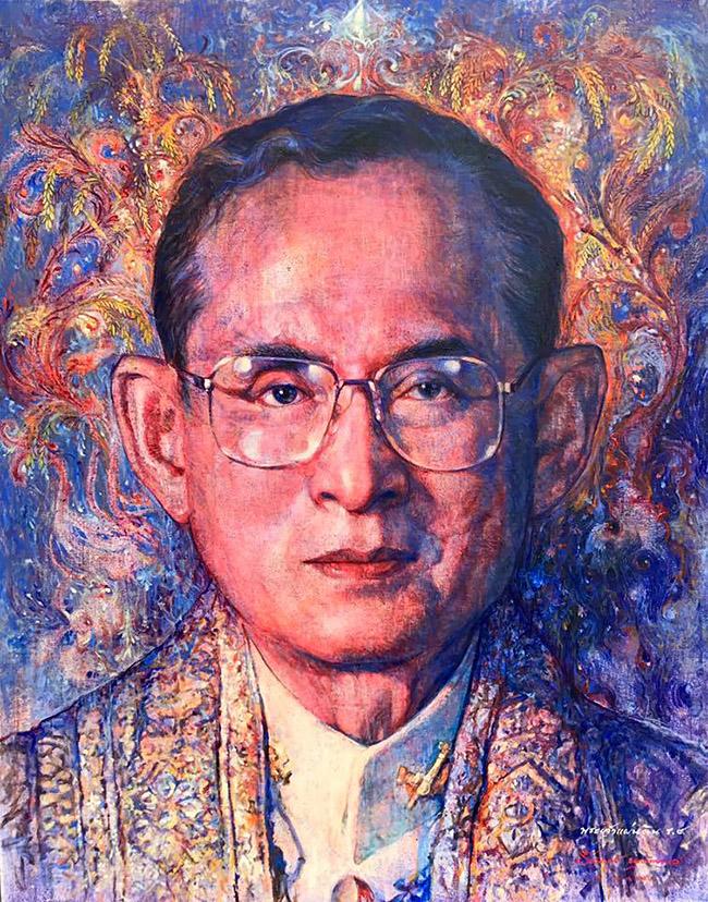 Teerawat Nutcharoenpol Josh - Thai King Rama IX Art