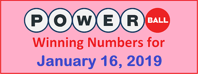 PowerBall Winning Numbers for Wednesday, 16 January 2019