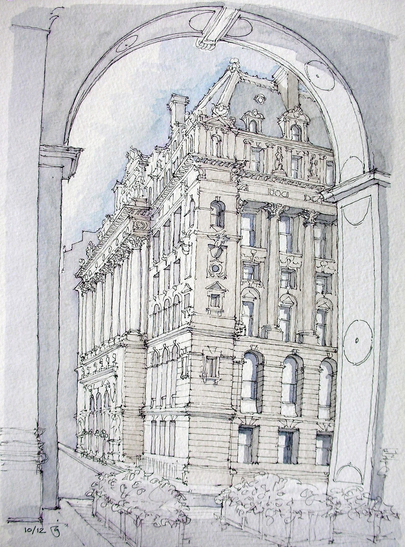 12-Surrogate-Court-Building-James-Anzalone-Freehand-Sketches-of-Park-Slope-Brooklyn-USA-www-designstack-co