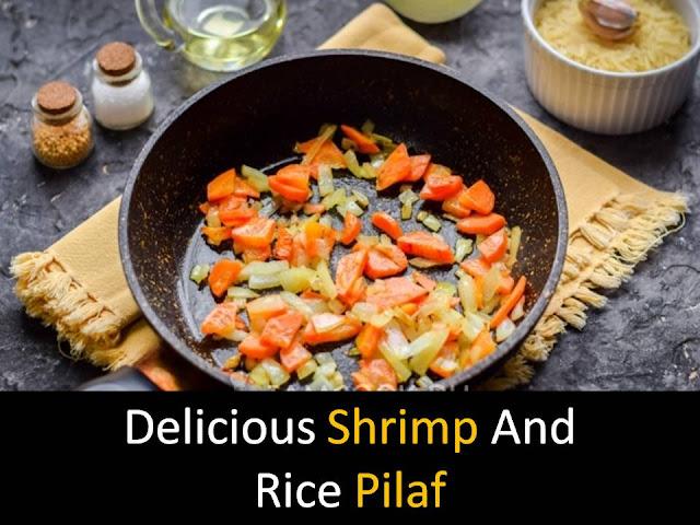 Shrimp and rice pilaf