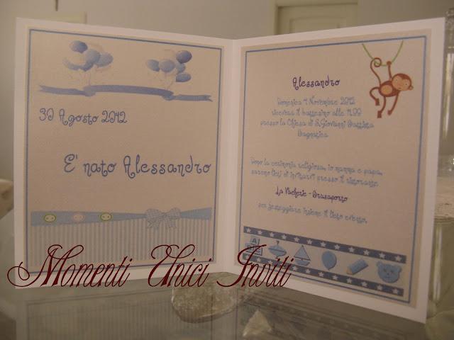 IMG_4824 Biglietto nascita e invito al battesimo bimboBattesimo Biglietti Nascita