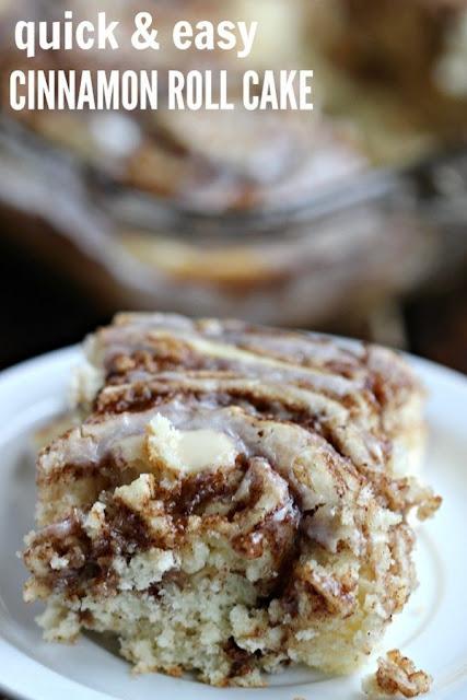 Easy Coffee cake recipe - Cinnamon Roll cake