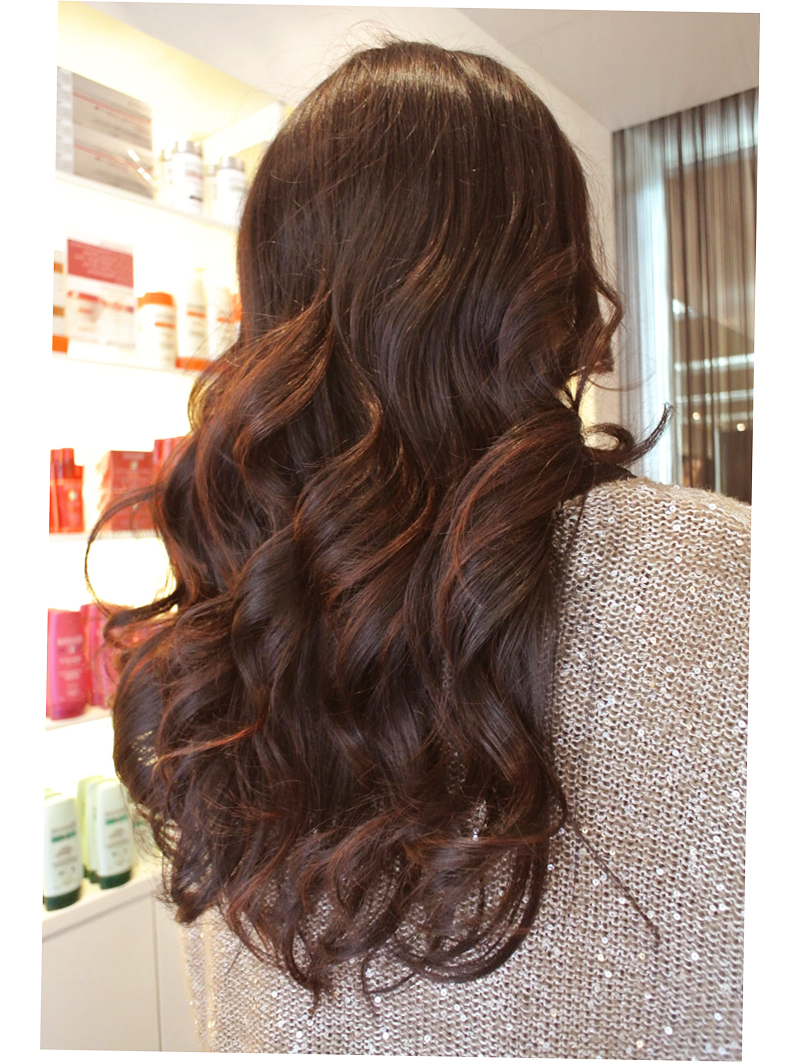 Diy Ombre Highlights Dark Hair Dye For Layered Black Round Face Party Steal This Look Fashionable By