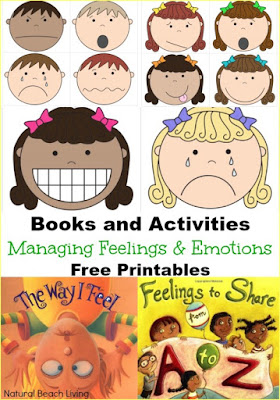 Managing feelings and emotions books and printables.