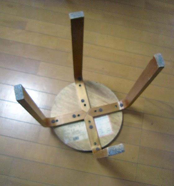 逆さまの丸椅子