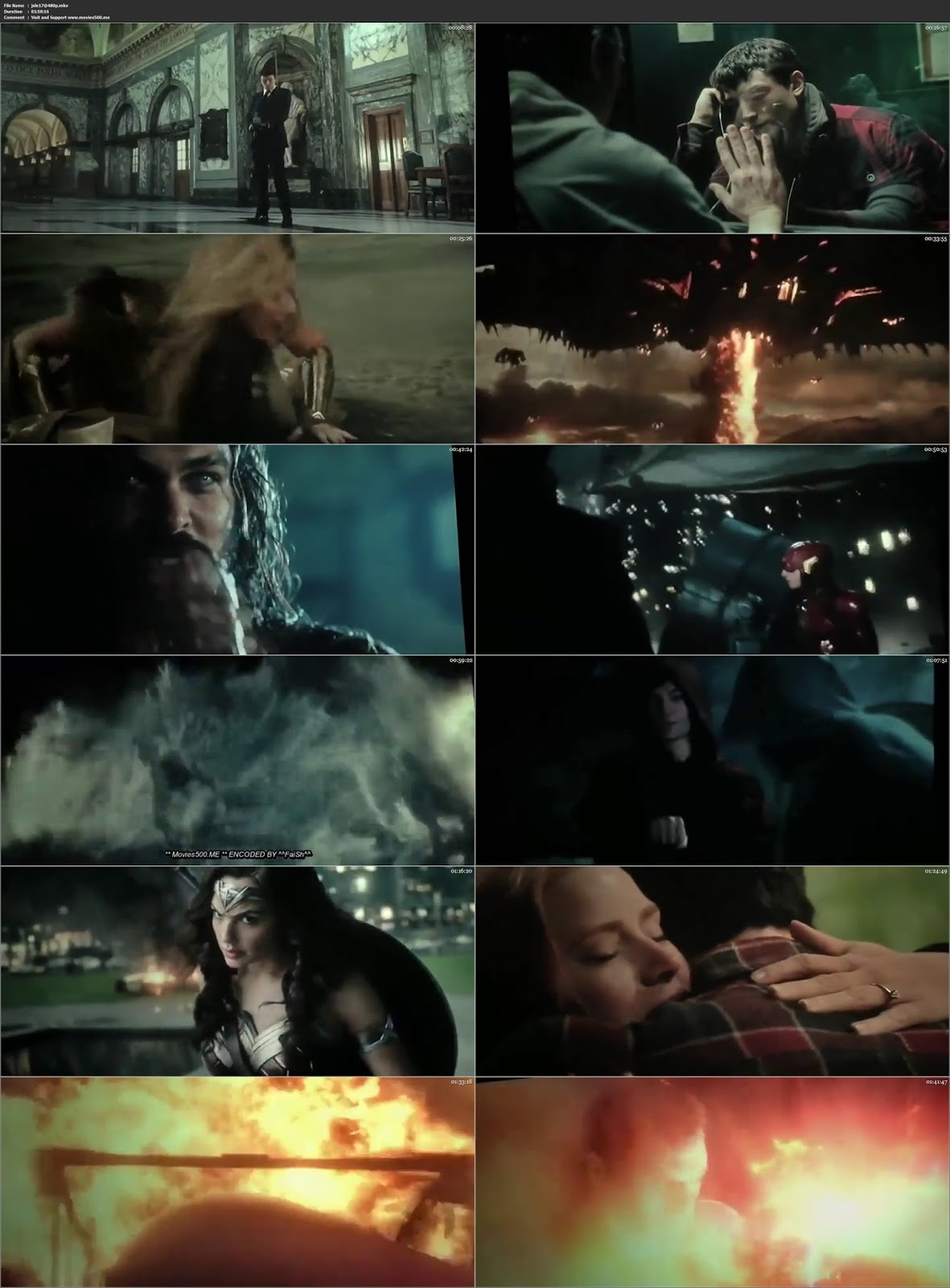 Justice League 2017 Hollywood 300MB Movie HDTS 480p at movies500.site