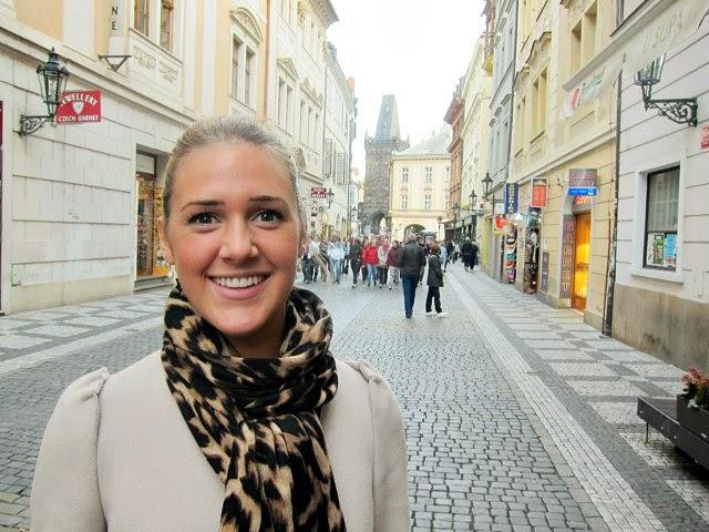 Maxime på gatan Celetna i Prag
