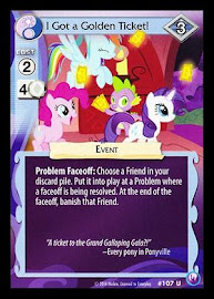 MLP I Got a Golden Ticket! Canterlot Nights CCG Card