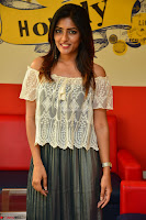 Eesha in a cute deep neck top and Skirt at at Big FM 103.JPG