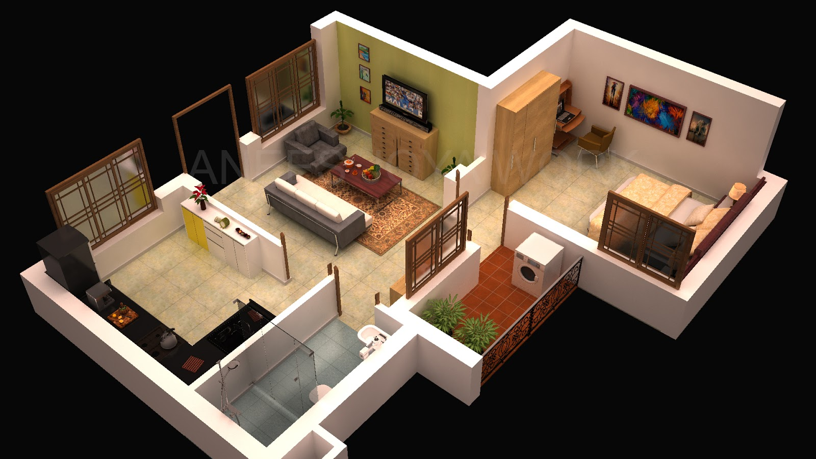 Anees Joya Works   3D Interior Design   3Ds max   Vray lighting and     3D Interior Design   3Ds max   Vray lighting and Photoshop