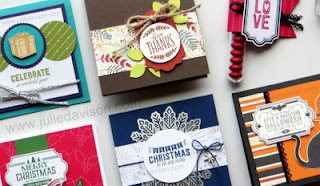Stampin' Up! 2017 Holiday Catalog ~ Labels to Love Project Ideas ~ www.juliedavison.com