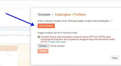 Cara mudah mengubah template pada blog blogger