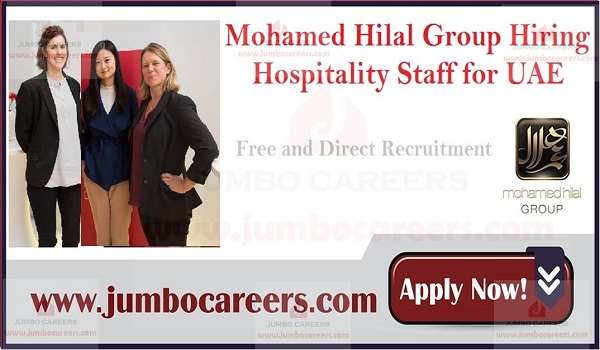 Hospitality jobs in UAE, Restaurant job vacancies in Gulf countries,