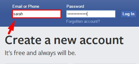 Facebook login sign in more