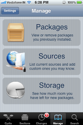 cydia manage packages sources