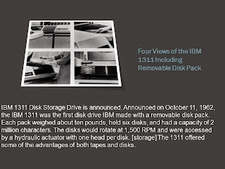 IBM 1311 DISK STORAGE DEVICE