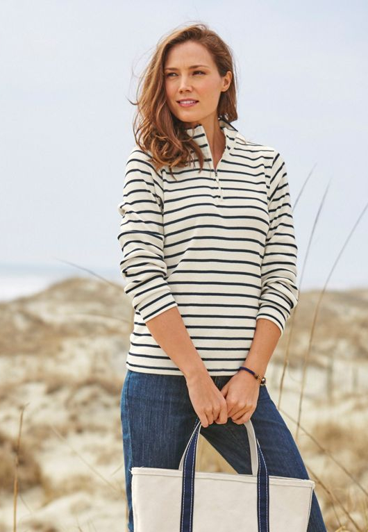 Beach Sweaters with French Style Striped