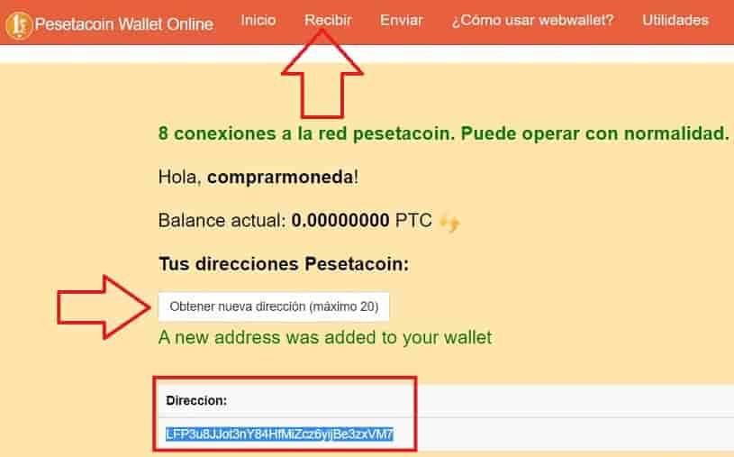 monedero pesetacoin recibir monedas desde coinbase y cryptopia