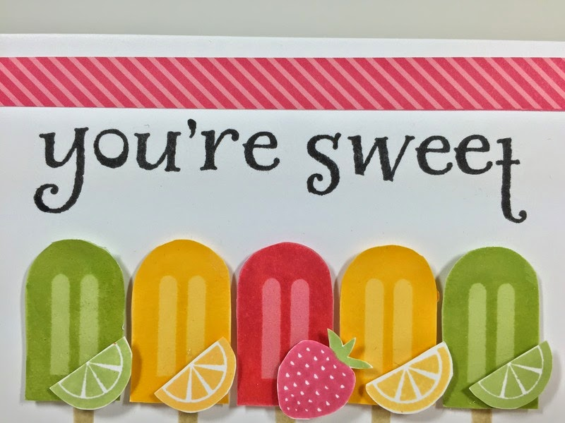 Cricut Sweet Popcicle card
