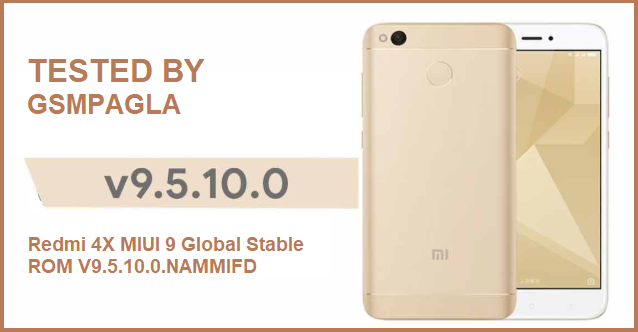 Redmi 4X MIUI 9 Global Stable ROM V9.5.10.0.NAMMIFD Free Download