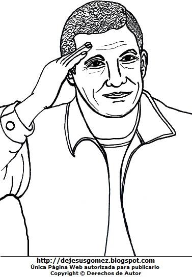Dibujo de Ollanta Humala saludando para colorear pintar imprimir. imagen de Ollanta Humala de Jesus Gómez