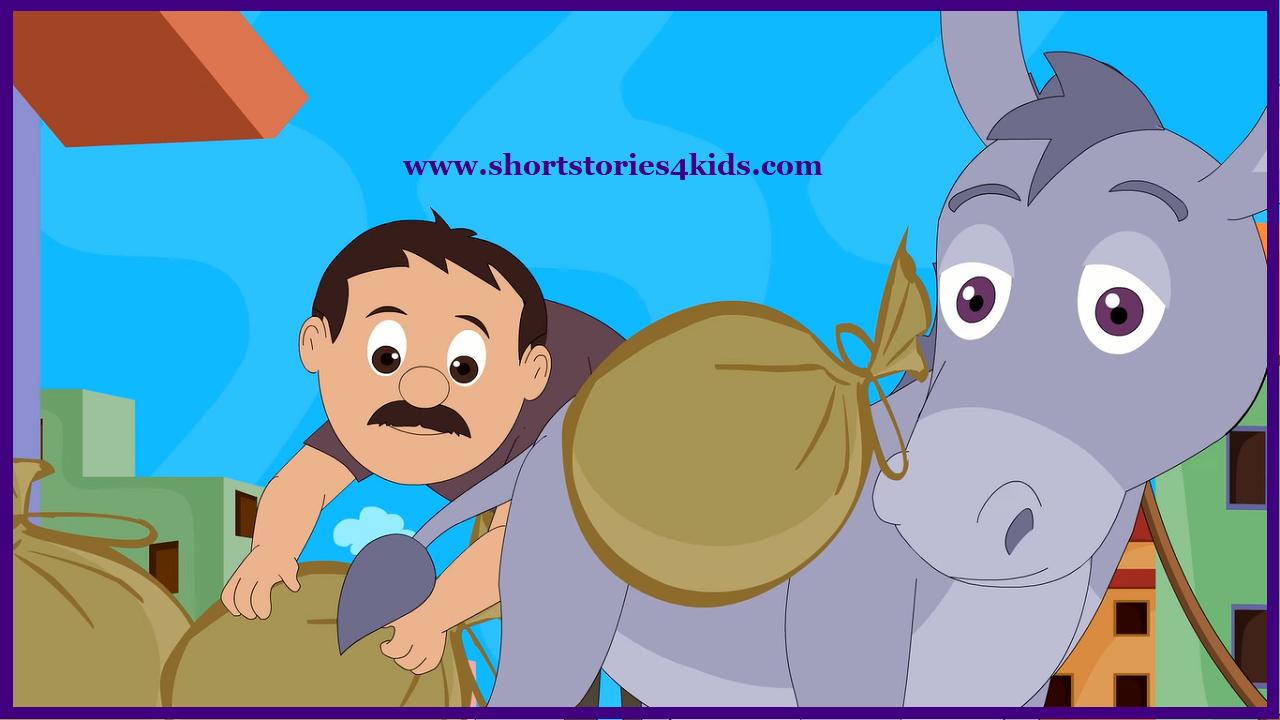 The Lazy Donkey - Moral Short Stories for Kids - Short