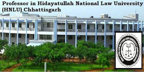 Professor in Hidayatullah National Law University (HNLU) Chhattisgarh updates by www.EChhattisgarh.in