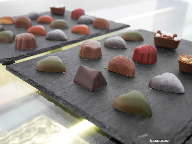Pierre Ledent's pralines which comes with various fillings