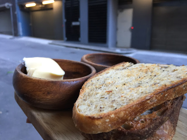Sydney Cafe Cre Asion - House Baked Mixed Grain Sourdough with Butter