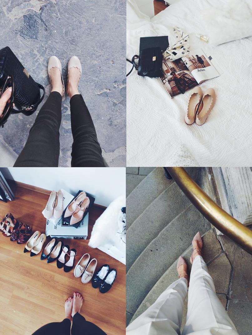 55b41c96938c4 Dwie pary które widzicie na zdjęciu niżej, pokazują moją miłość do butów z  drewnianą podeszwą:D Te położone bliżej kupiłam właśnie w outlecie (Zara) i  ...