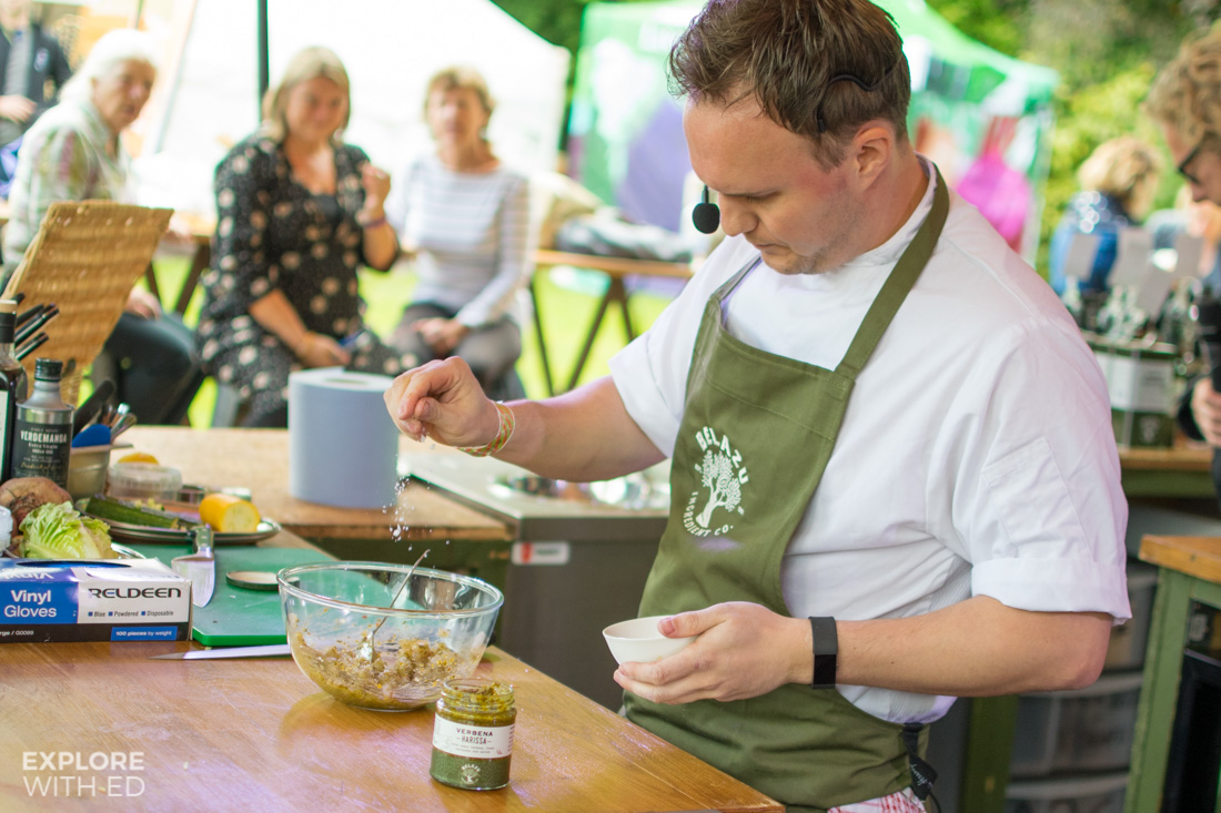Belazu cooking masterclass at Abergavenny Food Festival