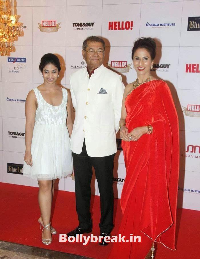 Dilip De, Shobhaa De, Hello Awards 2013 Pics