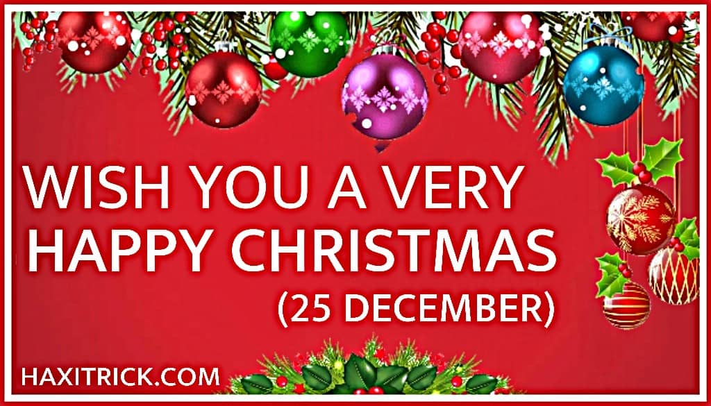 Wish You a Very Happy Merry Christmas 25 December 2020 Images Pics Photos