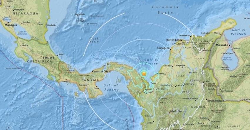 Fuerte Sismo de Magnitud 5.6 se registró en el mar Caribe frente a las costas de Colombia y Panamá