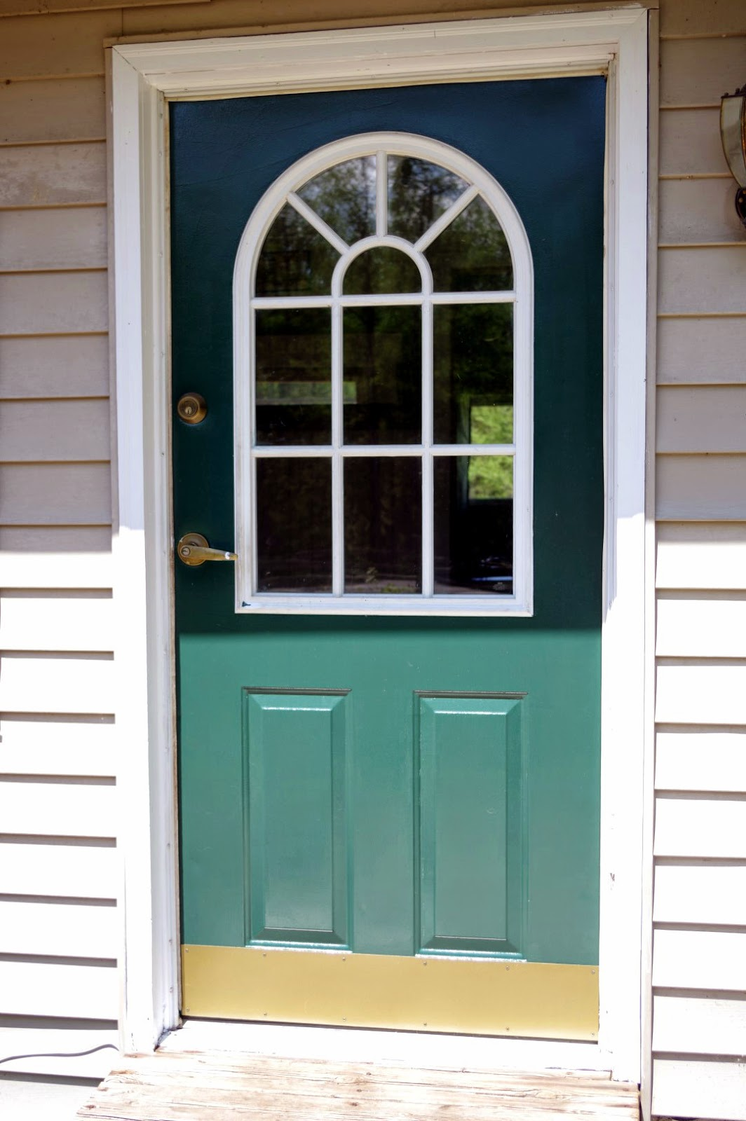 Painting a Door and How to Fix that Kick Plate - Black Spruce Hound