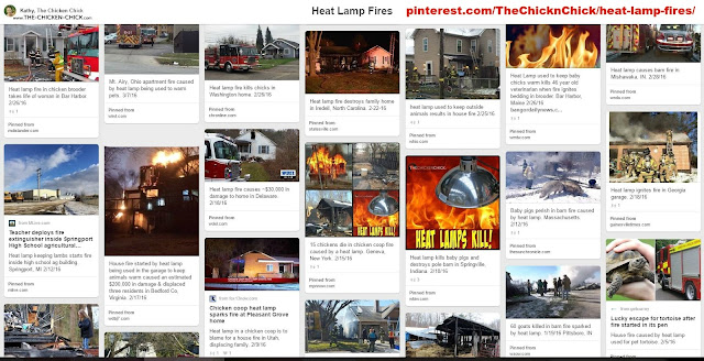 Pinterest Board of Fires caused by Heat Lamps