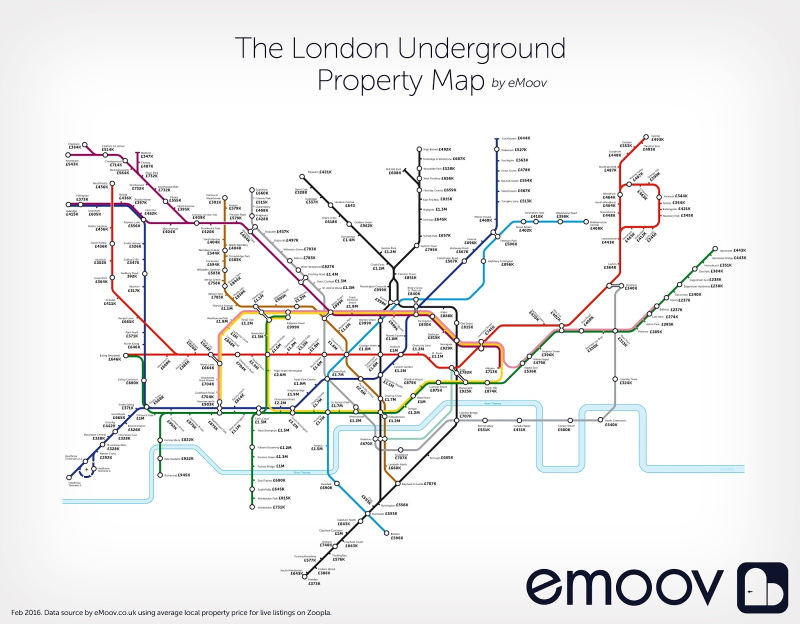 The London underground property map