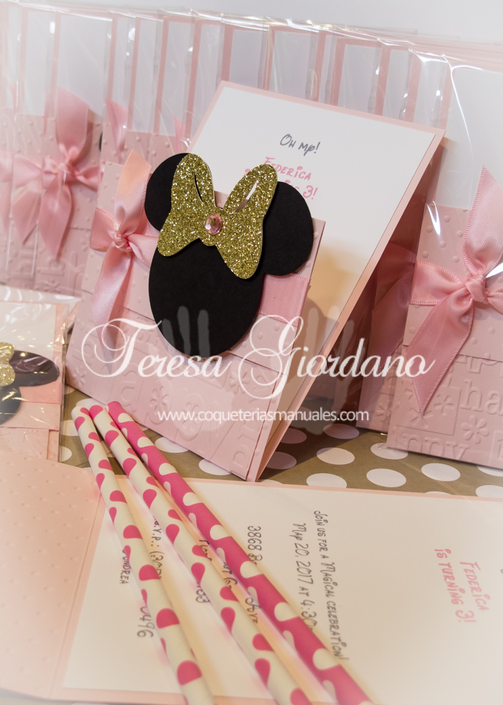 COQUETERIAS MANUALES: GOLD AND PINK MINNIE MOUSE
