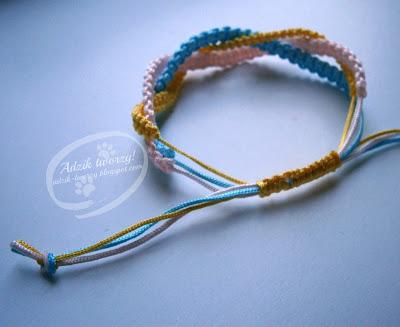 bransoletki makrama plecione sznurek