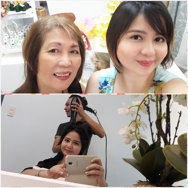 Madam has 42 years experience. She is Beauty Lane's trainor, and formerly with Wella. I like her hairstyle which she cut herself, so hip!