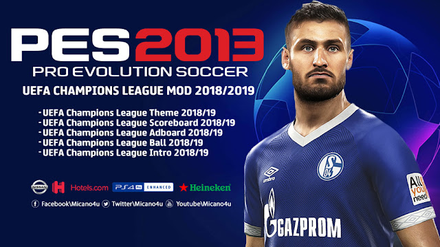 PES 2013 UEFA Champions League Mod 2018/2019 Full Version