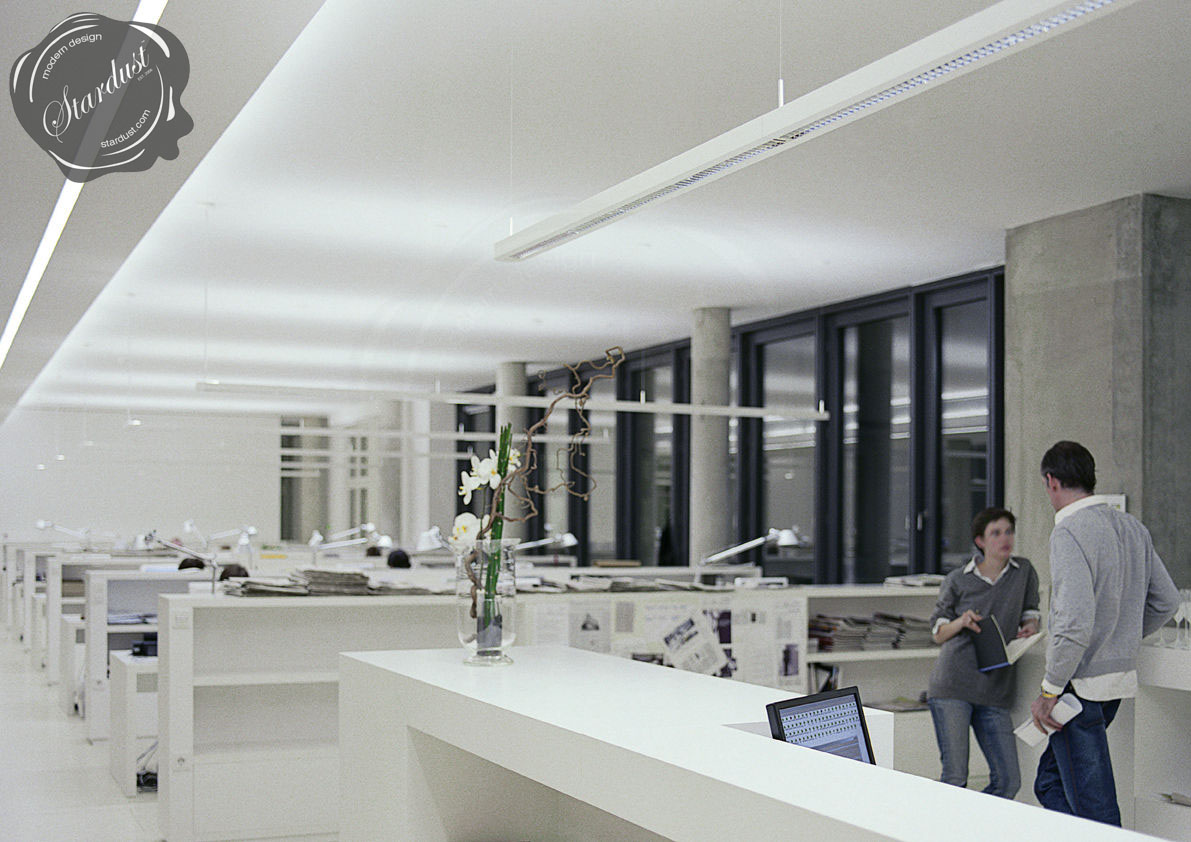 Talo Office Lighting Systems Silver Grey White Office