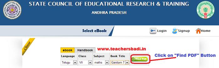 AP SCERT e-books, Hand Books, Textbooks   APSCERT ebooks
