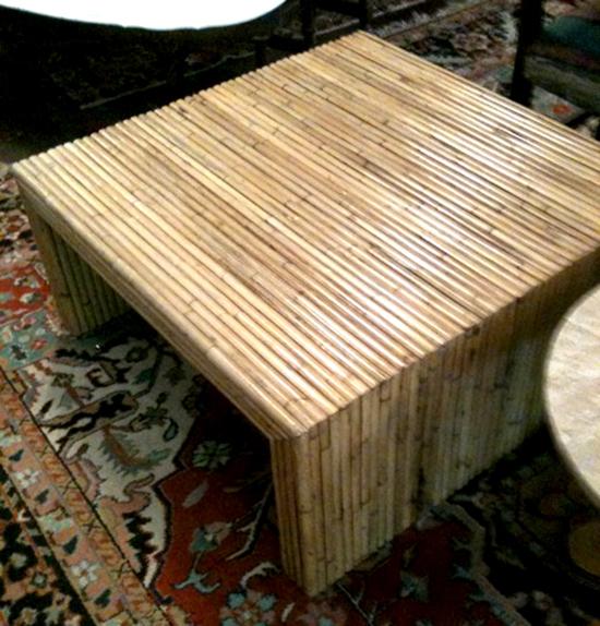 meja bambu minimalis