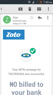 How To Get Free N500  Recharge By Just Updating Your Zoto App