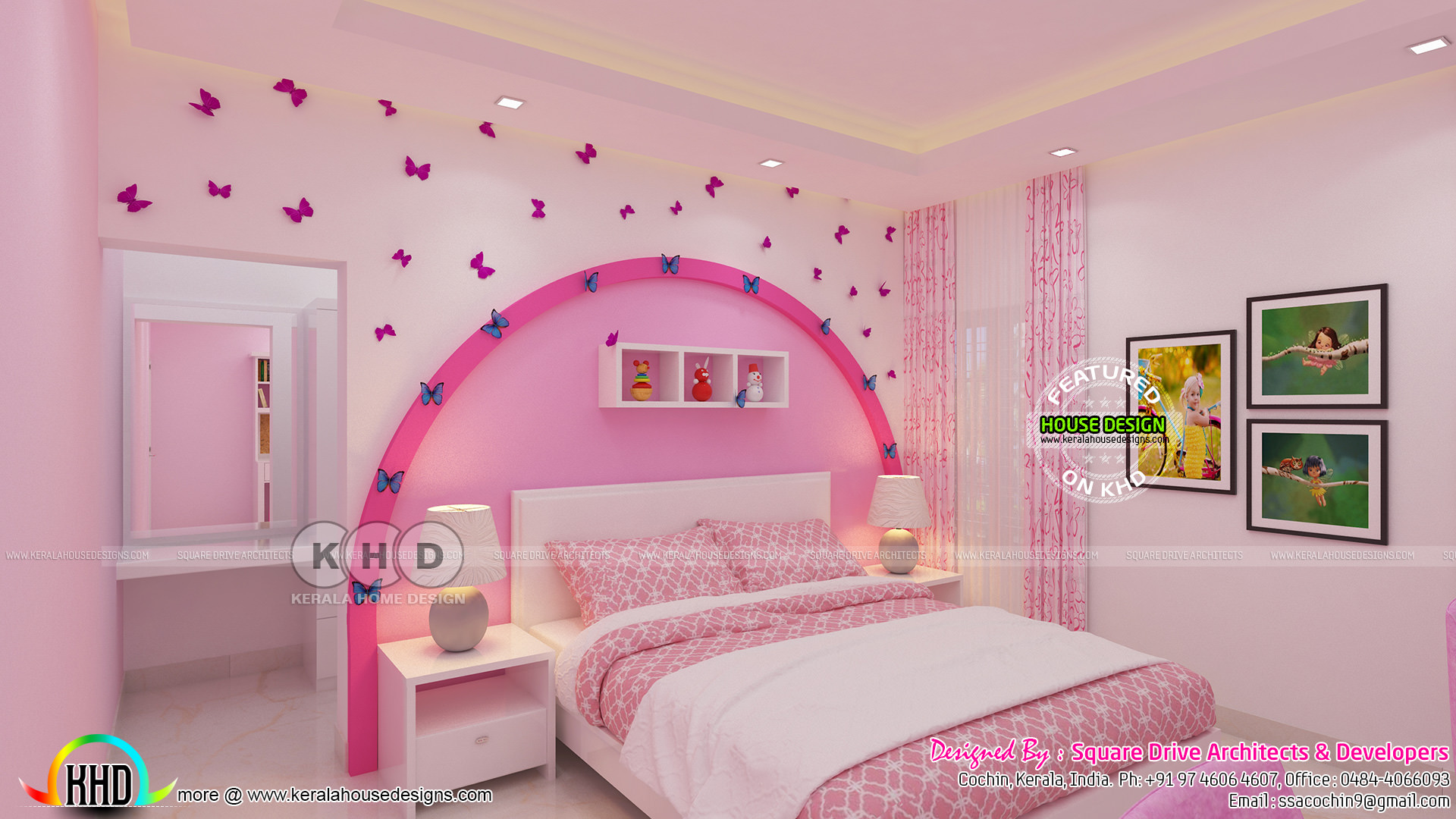 Kid bedroom and master bedroom interior - Kerala home ...
