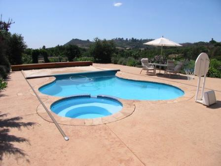 It Is Important To Note That When Installing An Automatic Pool Cover On A Freeform Limit The Amount Of Concrete